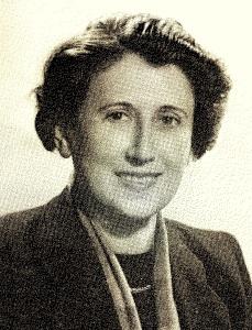 Ilona Márai, en 1948, poco antes de abandonar Hungría.
