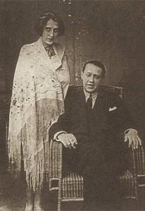 Sándor y Lola, el día de su boda en 1924.