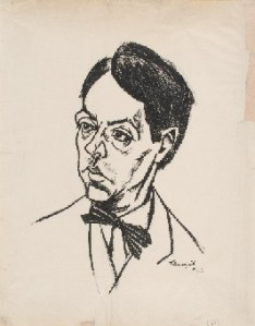 Retrato de Márai realizado por Lajos Tihanyi en 1924.